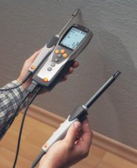 Гигрометр Testo 635-1 - Многофункциональный термогигрометр и бесконтактный влагомер для древесины
