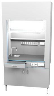 Шкаф вытяжной с сантехникой ШВ НВК 1200 ЭПОК+ (1200x716x2200)